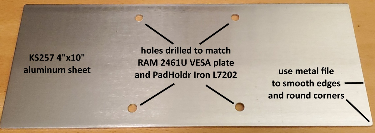 Battery mounting plate holes
