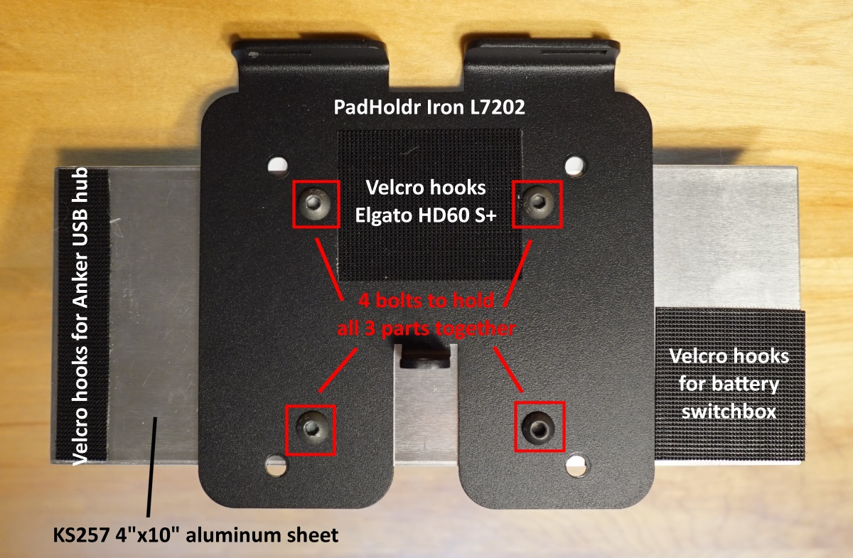 Battery mounting plate (tablet side)
