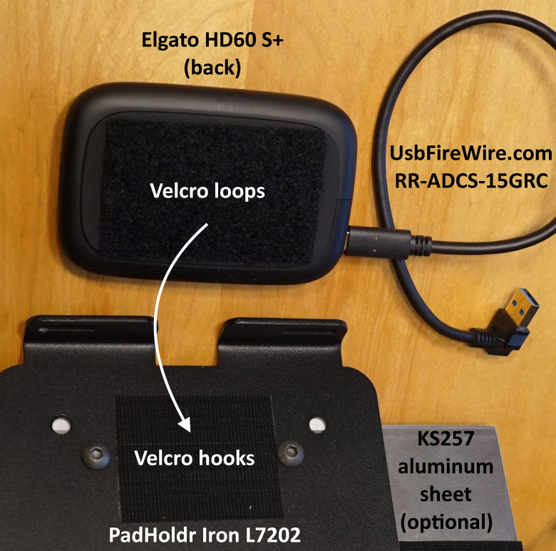Velcro loops for Elgato HD60 S+